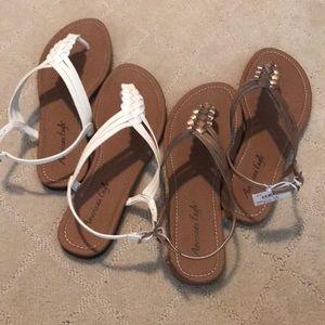 2 American Eagle Flat Sandals